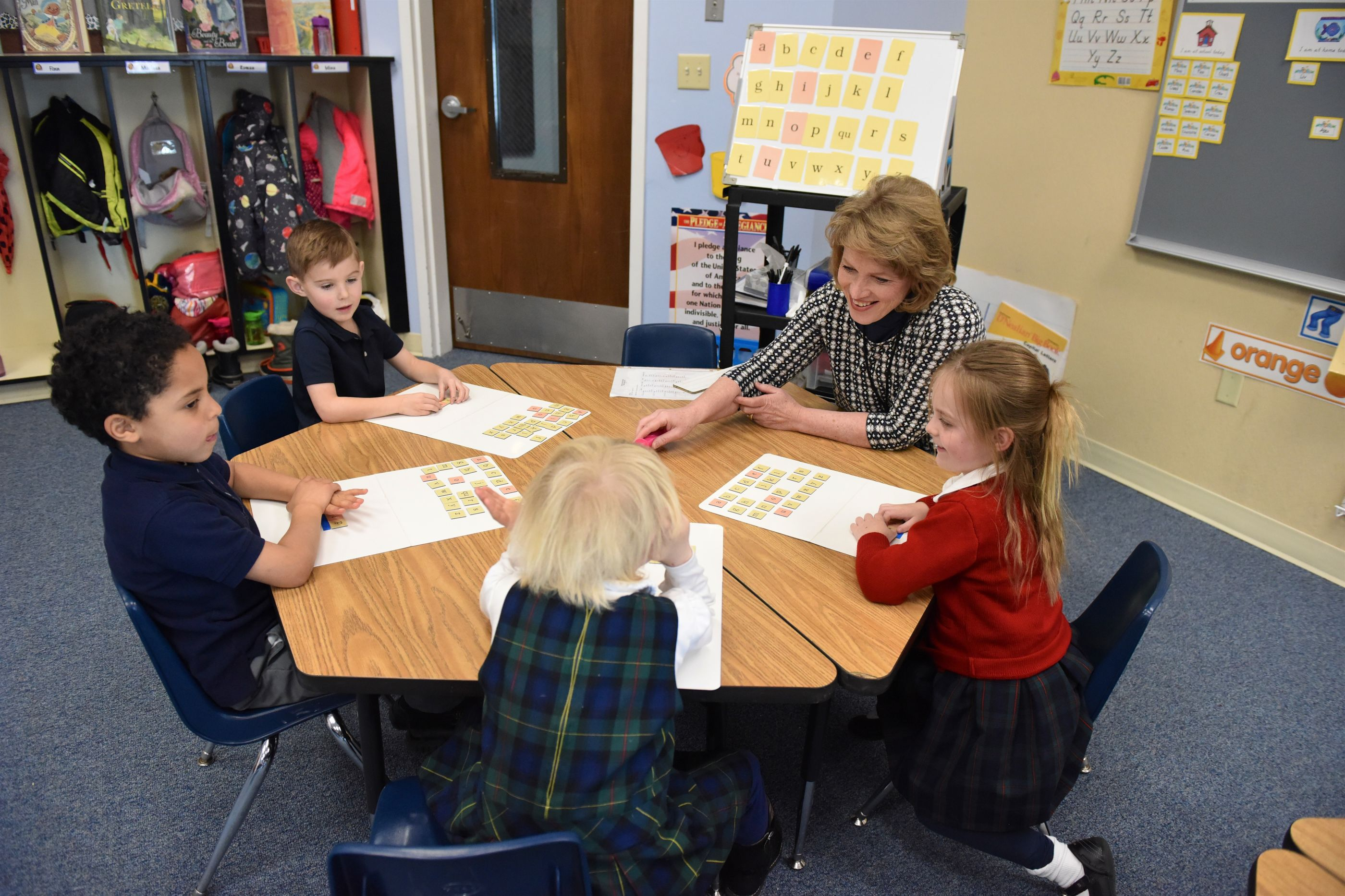 Students work in small groups
