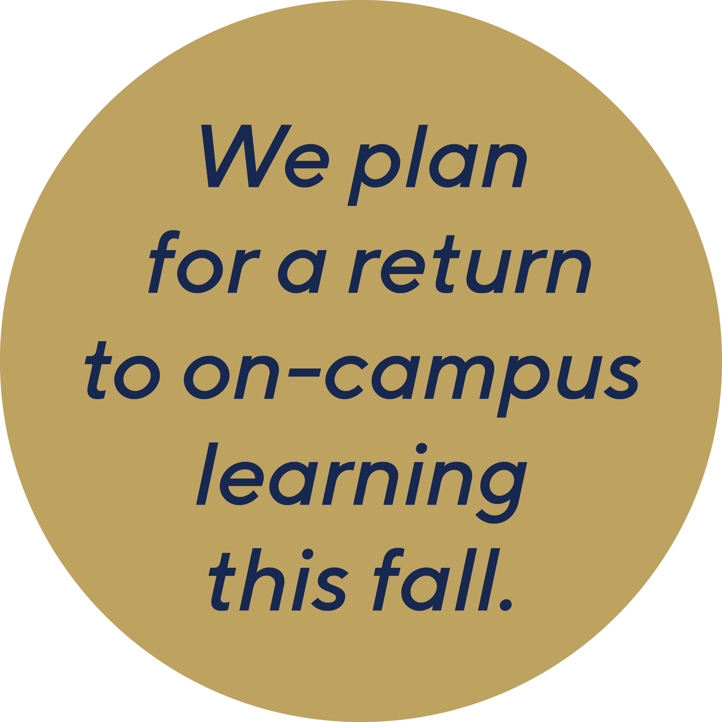 We plan for a return to on-campus learning