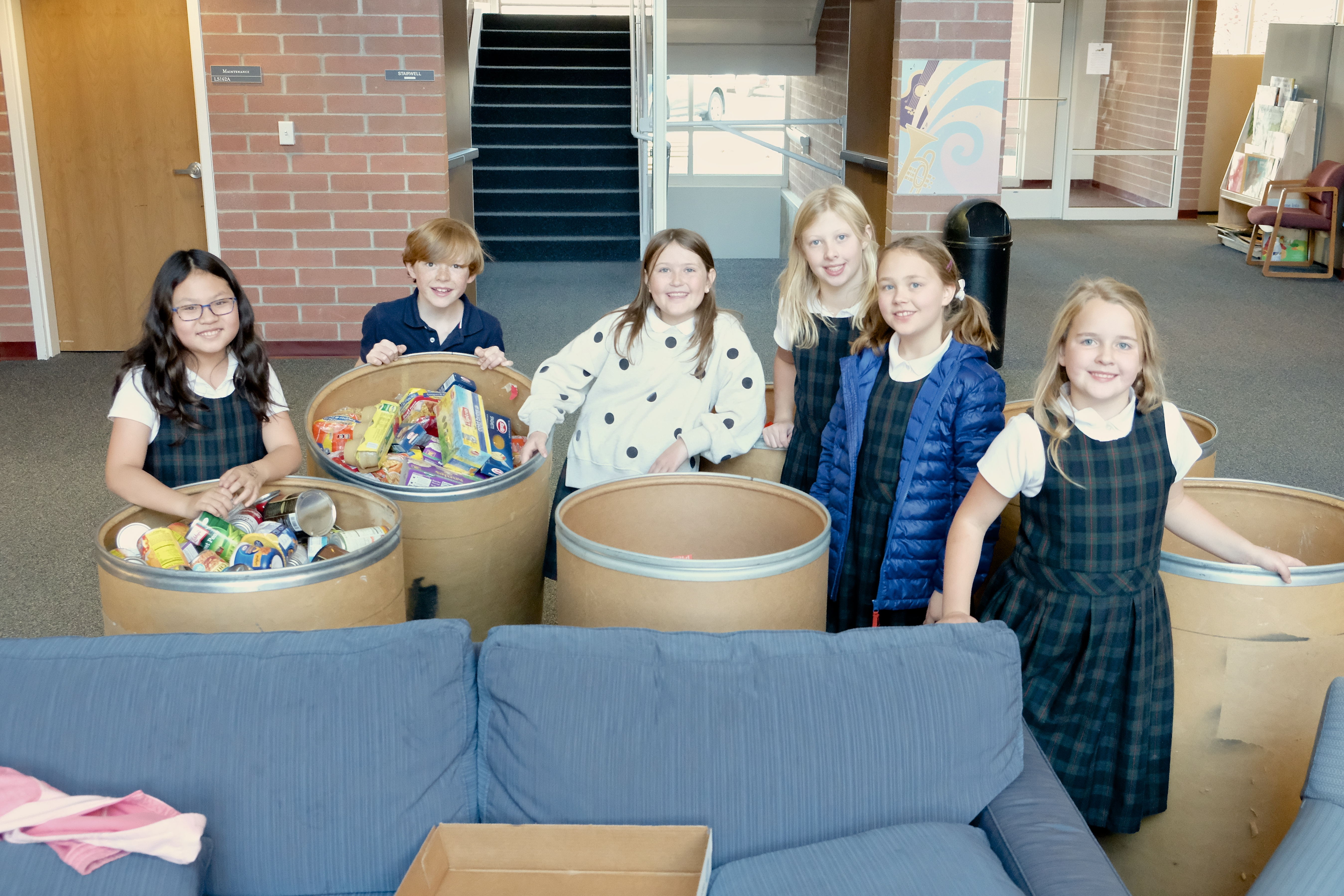 Lower School donations for the Utah Food Bank