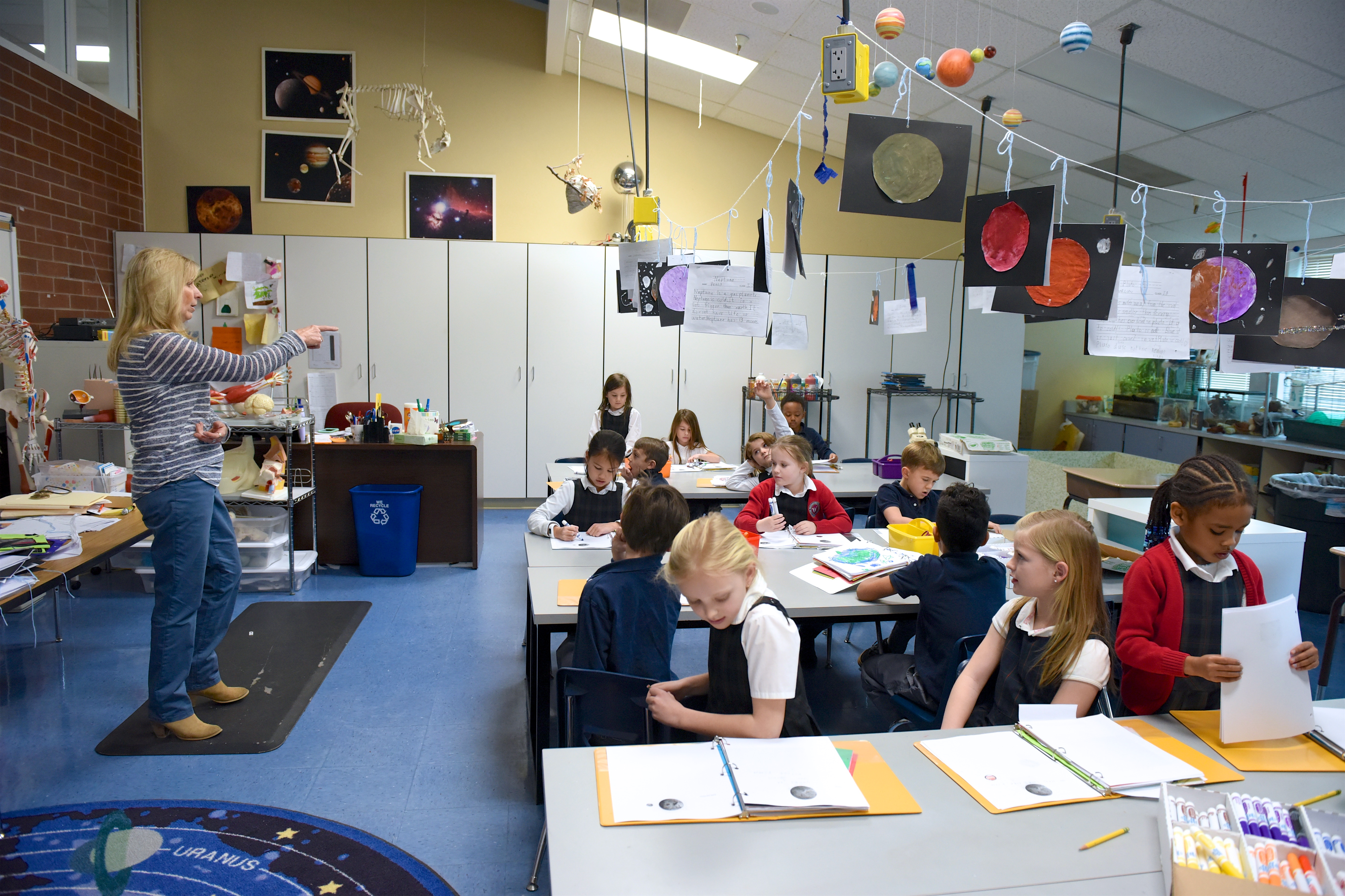 Waterford's Class I science lab is an inviting and stimulating environment that inspires scientific thought and curiosity.