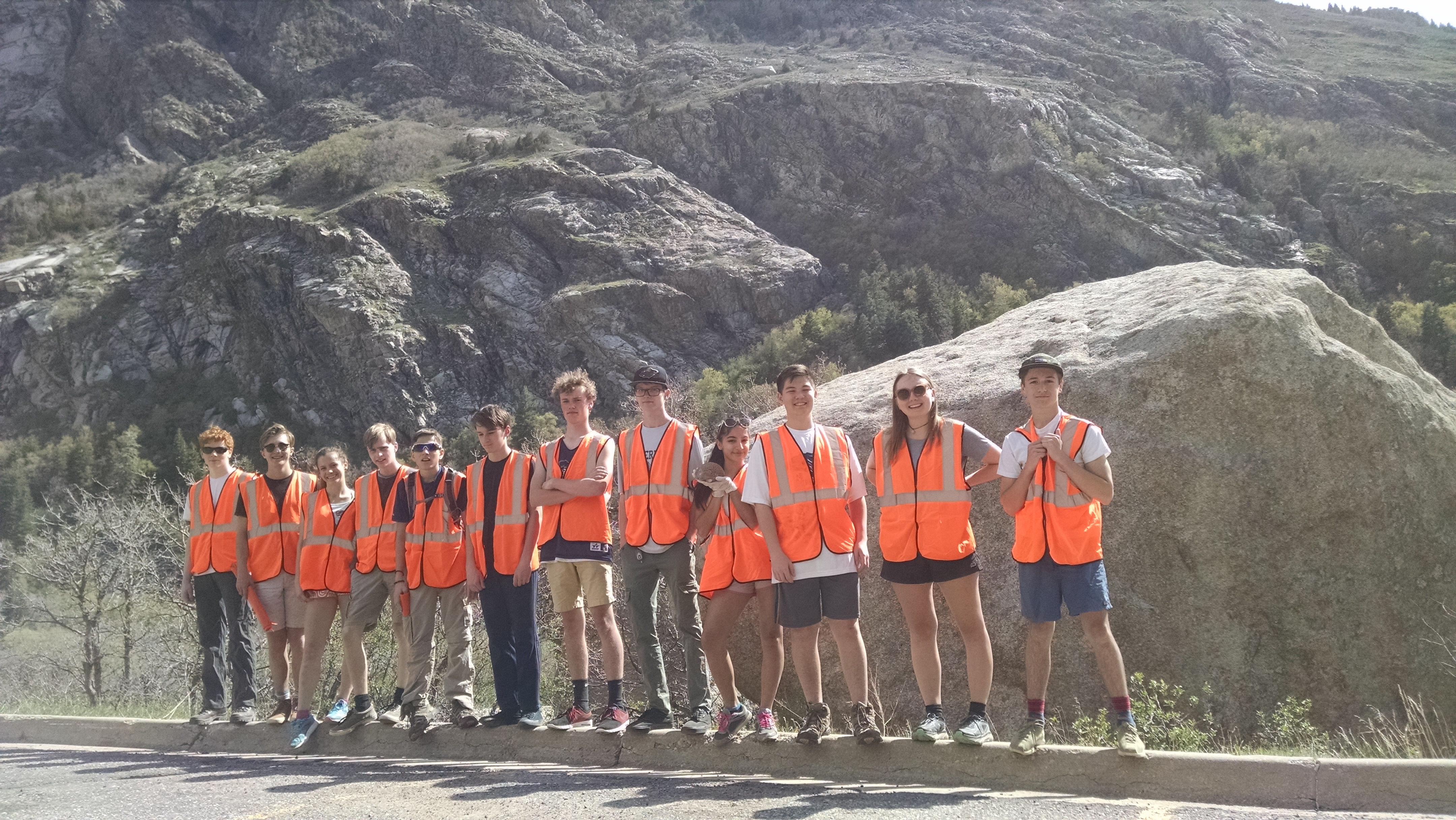 Waterford Students cleaning up Little Cottonwood Canyon