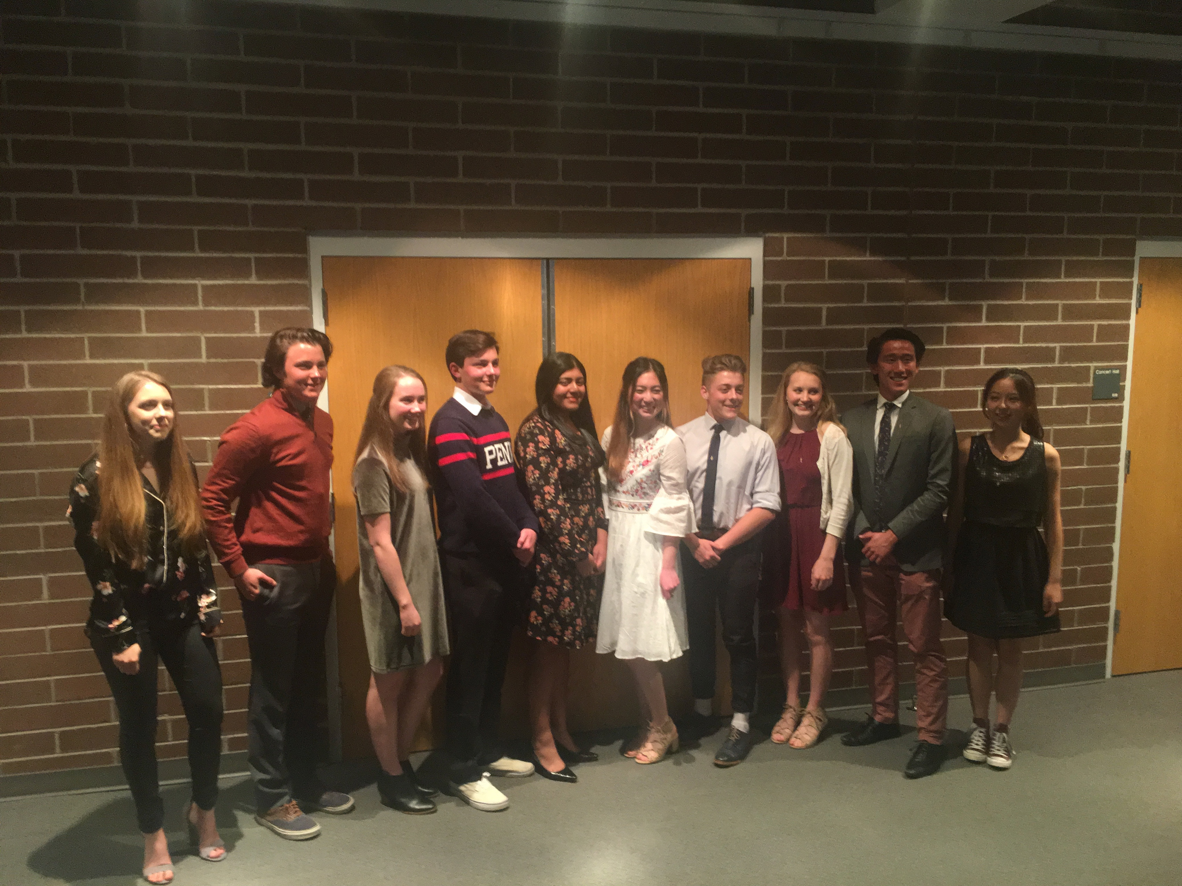 Ten members of the Waterford Class of 2018 were inducted into the Cum Laude society. Waterford School is the only member of the Cum Laude Society.