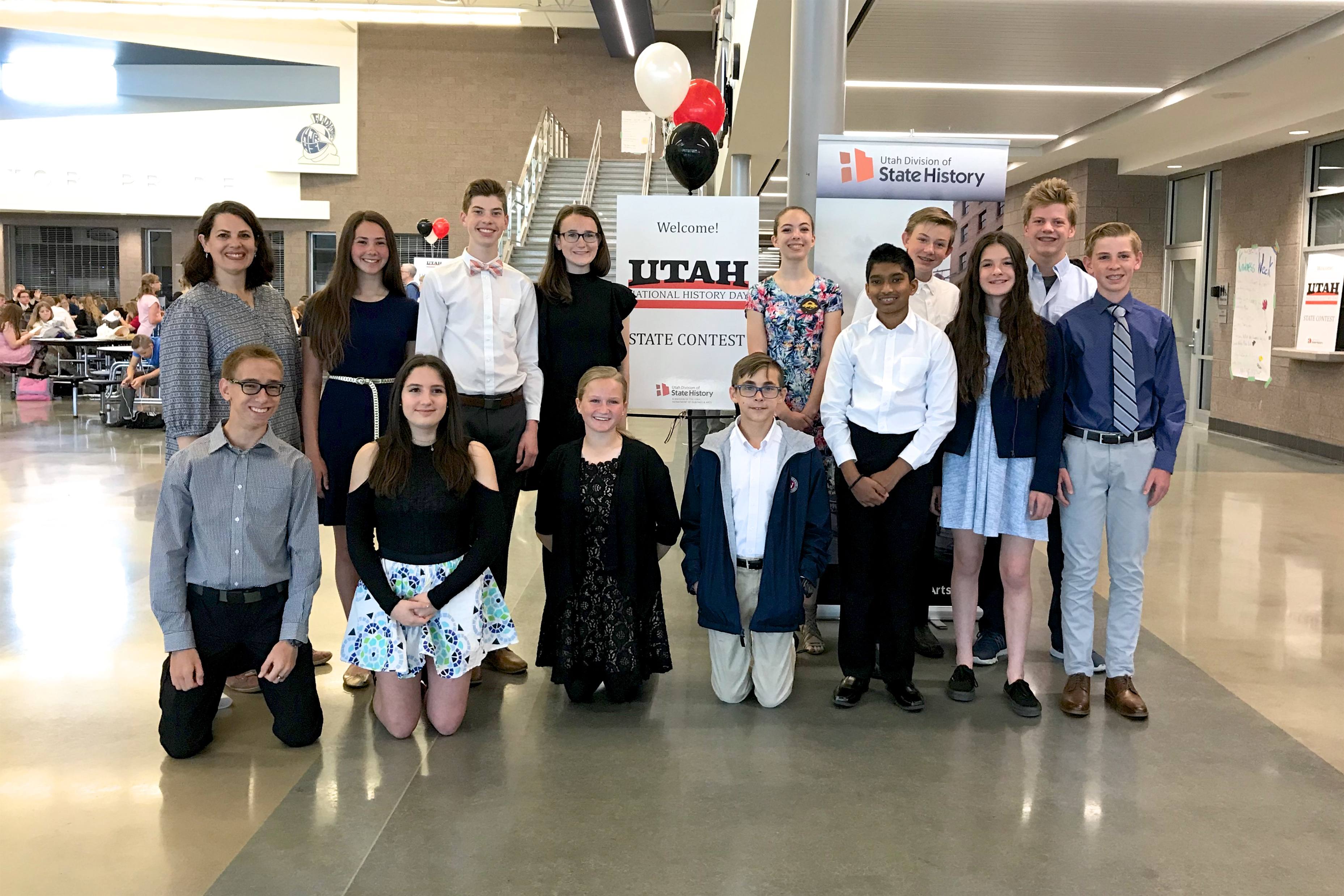 Waterford eight graders competed at Utah's National History Day competition.