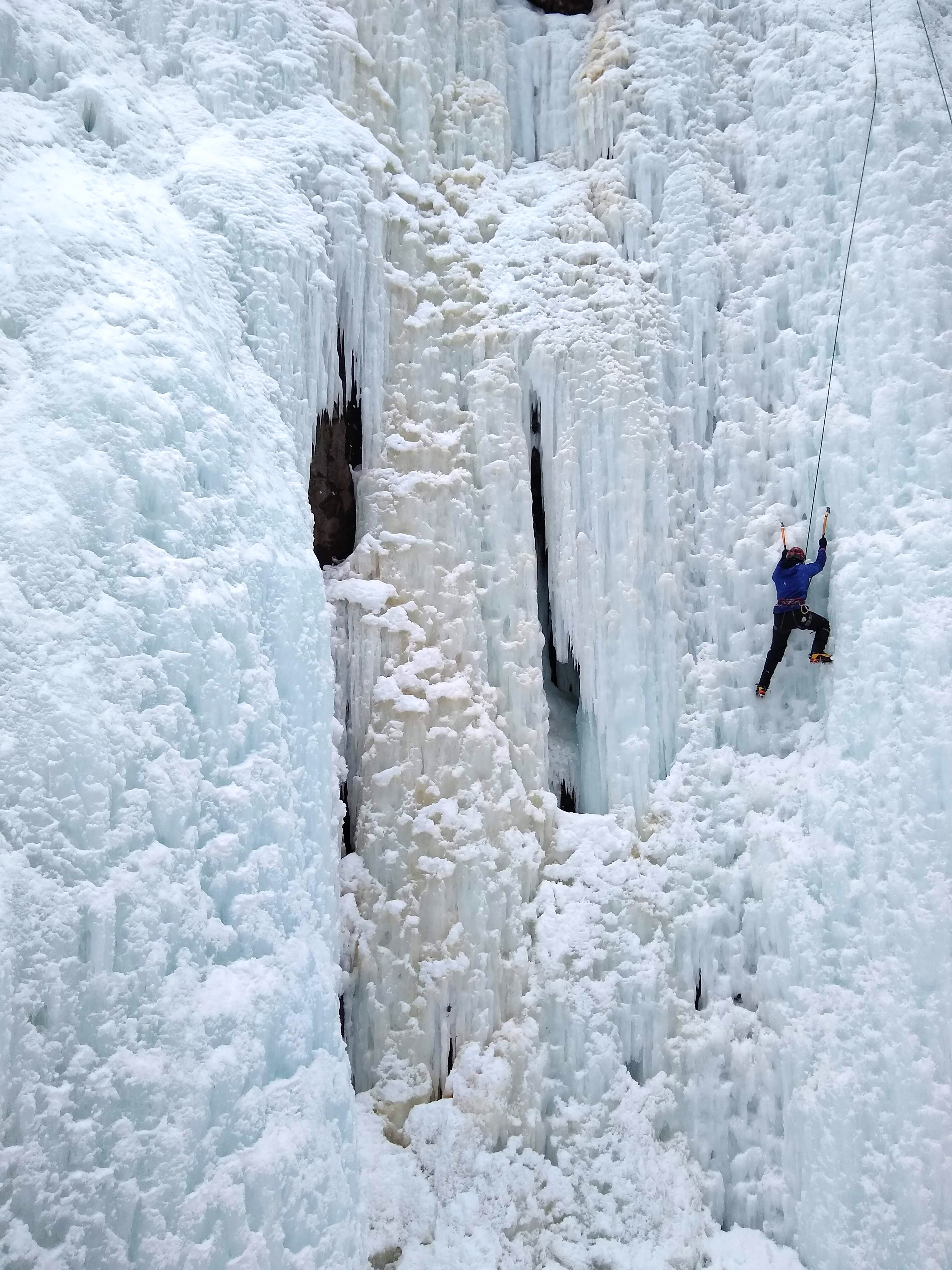Jacquiline B. ice Climbing in Ouray, Colorado