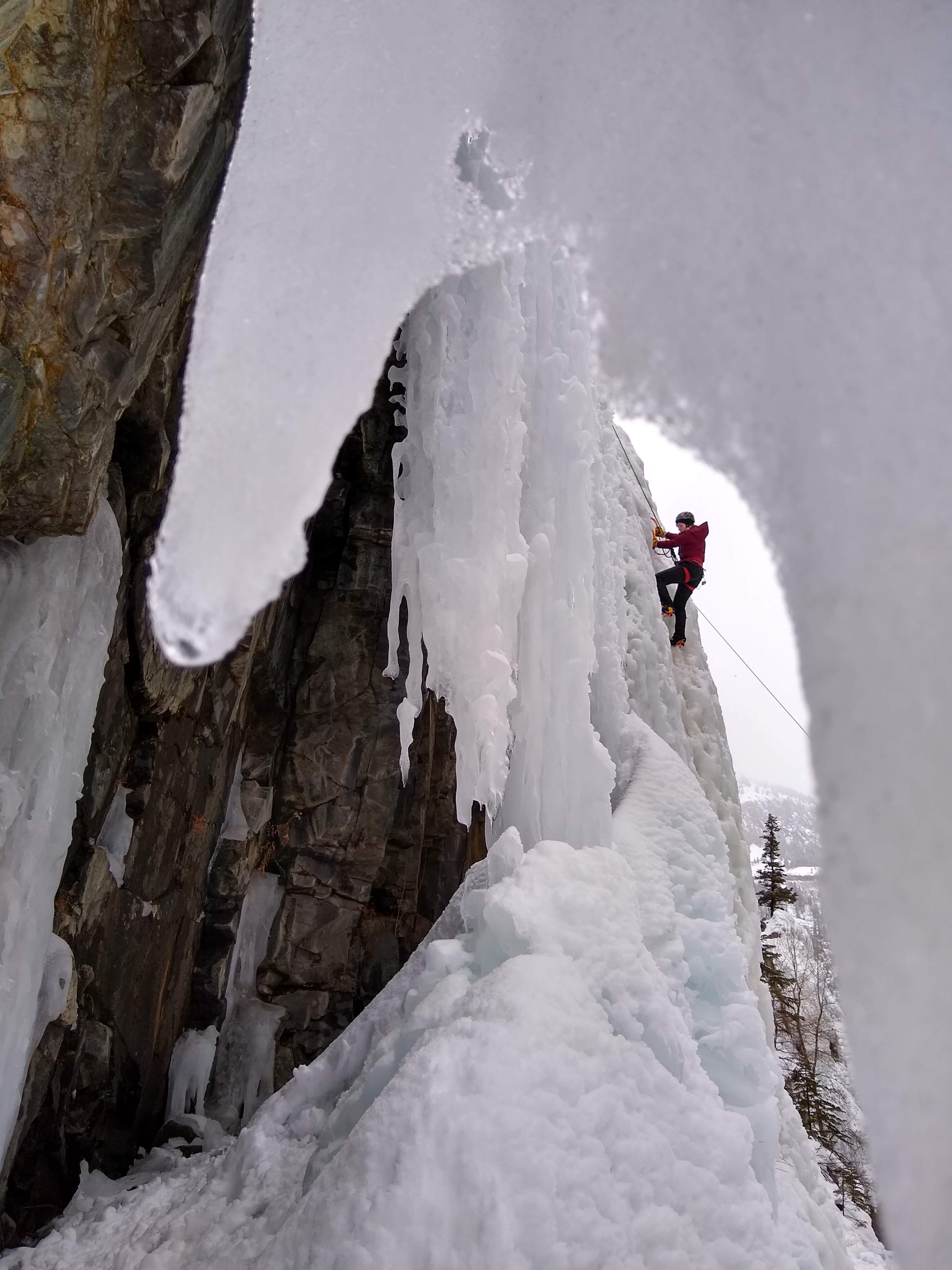 Katie R. '19 Ice Climbing in Ouray, Colorado