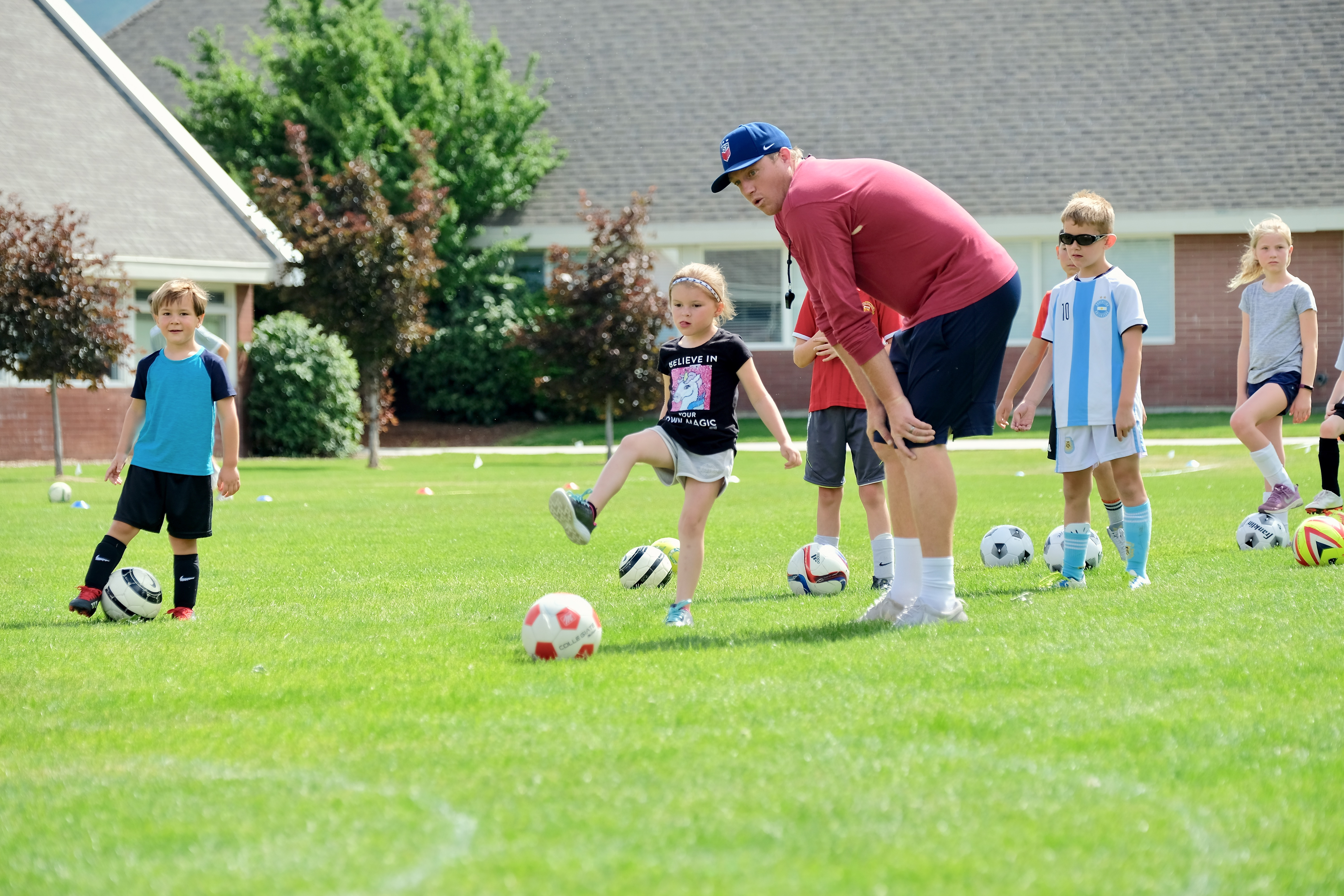 Young Soccer campers