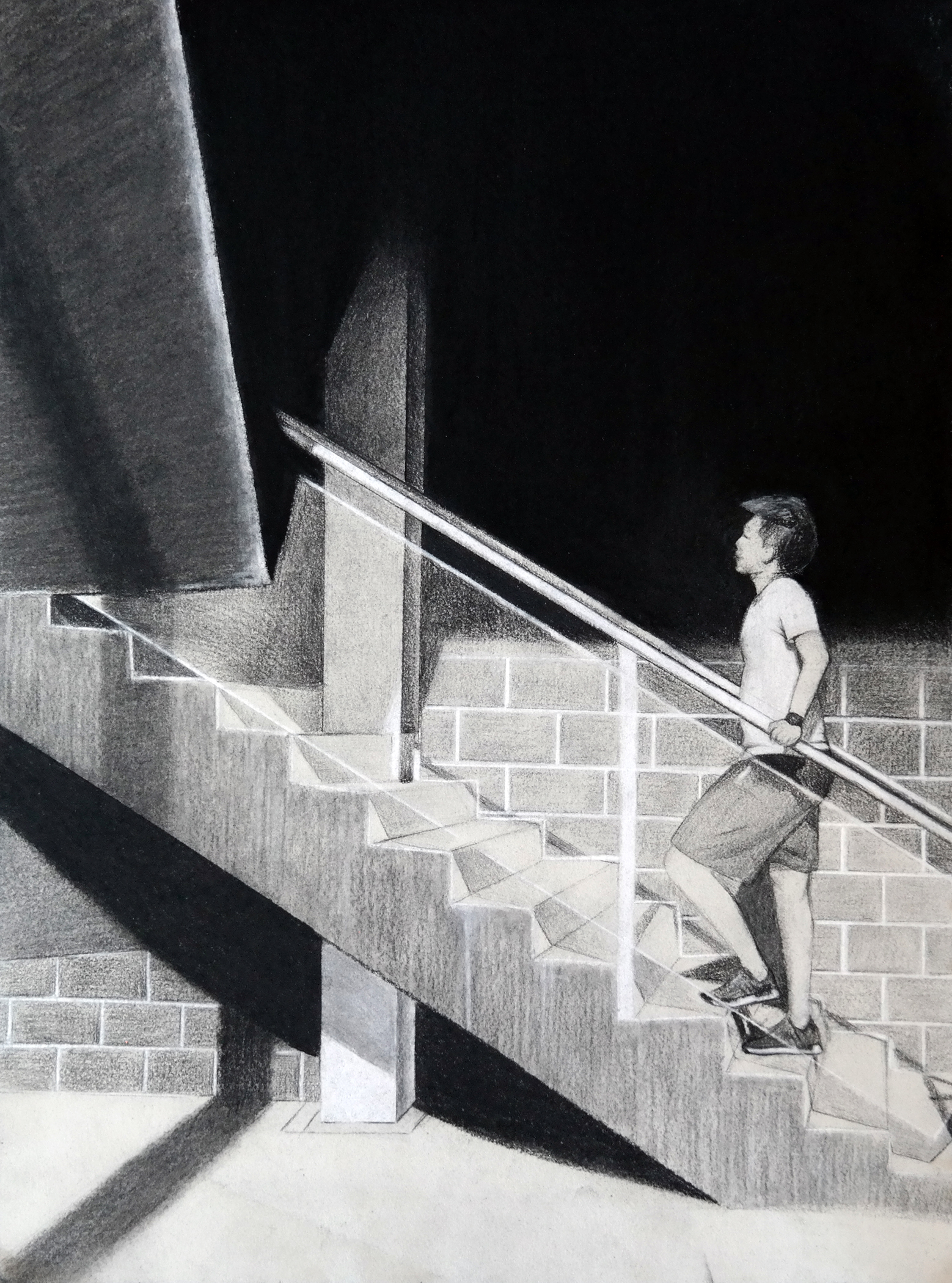 "Jessica Li received a Gold Key scholastic award for her drawing, ""Up."""