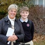 Nancy Heuston and her Grandson duringGrandparents Visiting Day at Waterford School, 2018