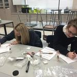AP environmental science students doing a soil lab
