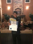Tarun Martheswaren won the Physics, Astronomy & Math at the USEF science fair.